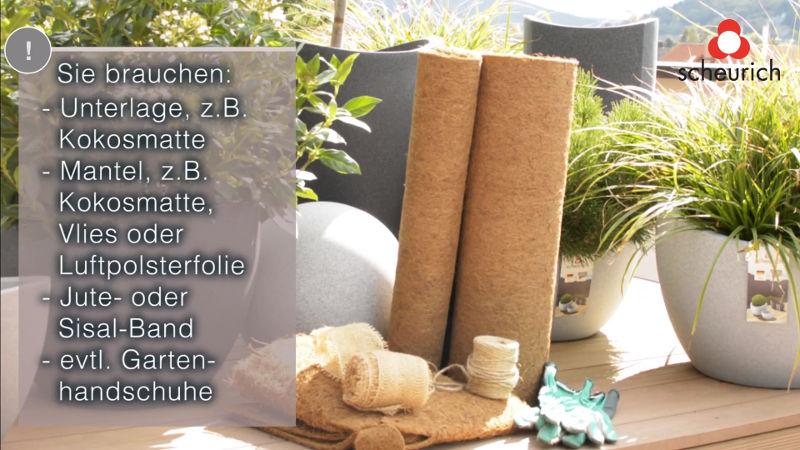 Bild mit allen Materialien um Ihr Pflanzen winterfest zu machen