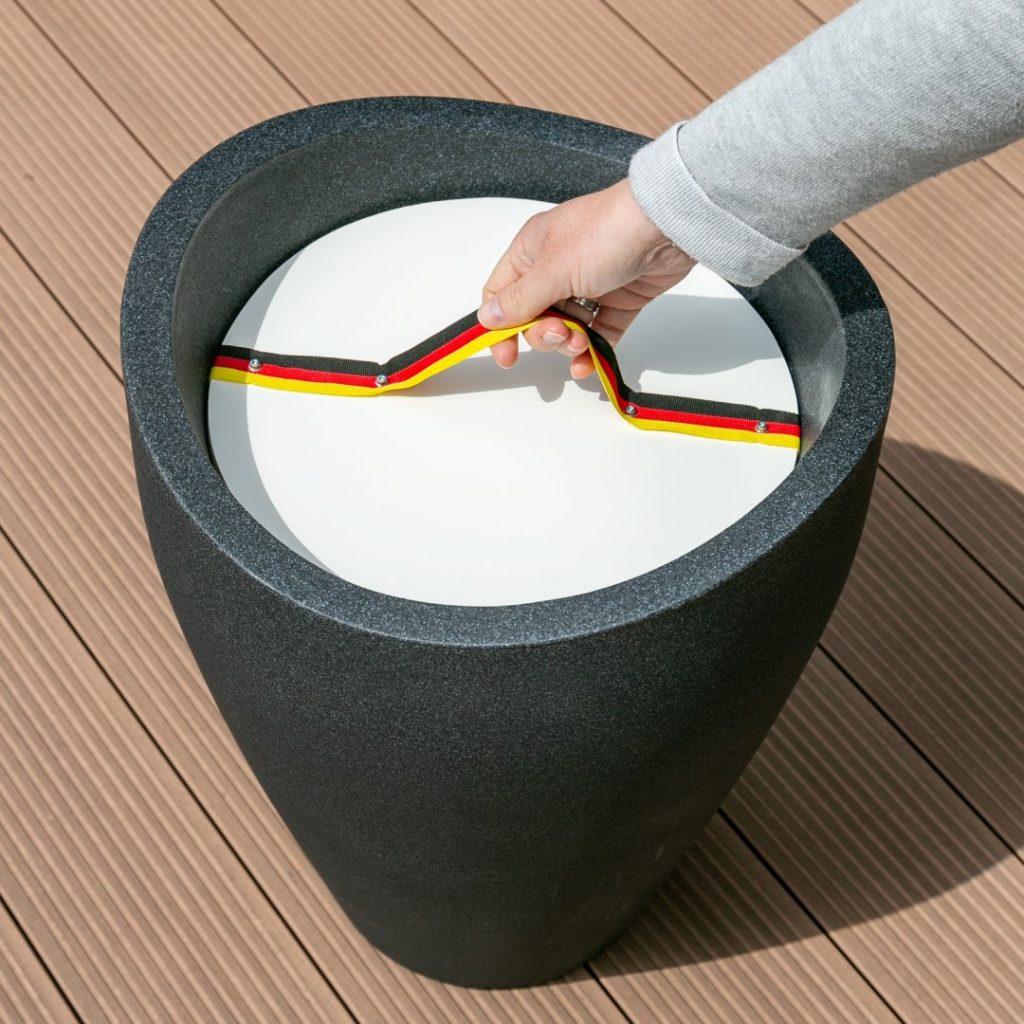 Wave Globe High Getränkekühler-Beistelltisch